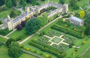 Arial view of Sudeley Castle